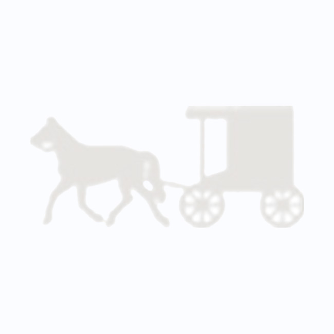 Amish Made Wooden Toy Tractor & Wagon with Hay Bales