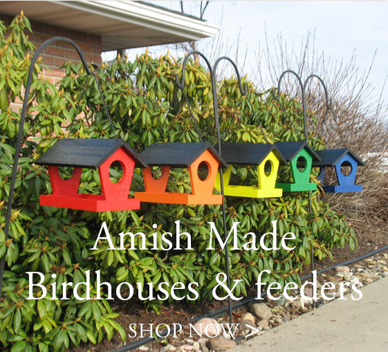 Amish Birdhouses & Feeders